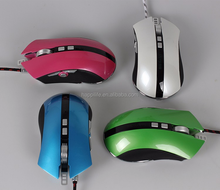 Factory manufacturer new fashion best selling high DPI 9D Wired optical LED light programming gamer gaming mouse