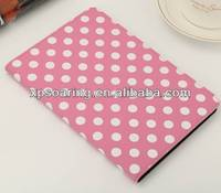 Pink Dot Stand leather case bag for ipad mini 2