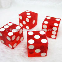 19mm Dice Transparent Red Sharp Corner