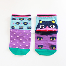 Top quality high cotton school sex girl knee ski socks with OEM service