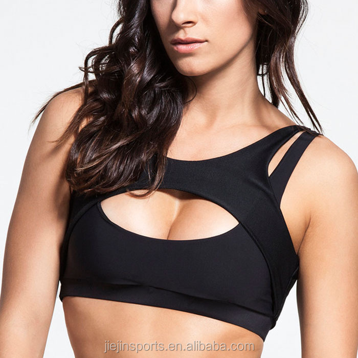 Sexy Push Up Max Support Sports Bra No Bounced Workout Tank Top No Rims