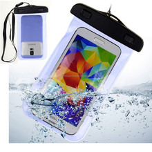 Hot product wholesale price custom outdoor travel universal PVC IPX8 waterproof mobile phone bag for swimming