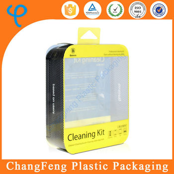 custom plastic cosmetic gift set packaging box