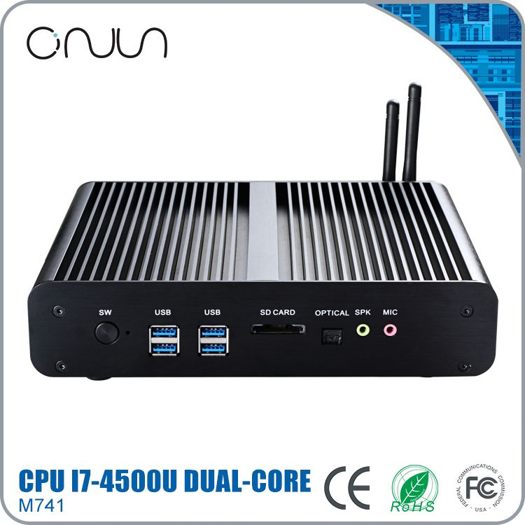 desktop htpc i7 hd desktop pc linux intel fanless micro pc