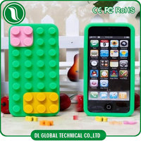 Unique design of building blocks design custom made silicone case for iphone6s colored silicone case