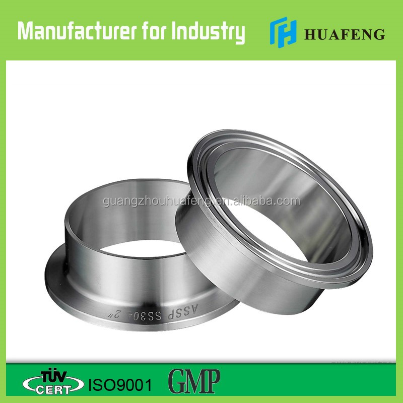 Sanitary stainless steel tri clover clamps