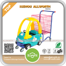 Supermarket Equipment 240L Steel Shopping Trolley with Coin Lock