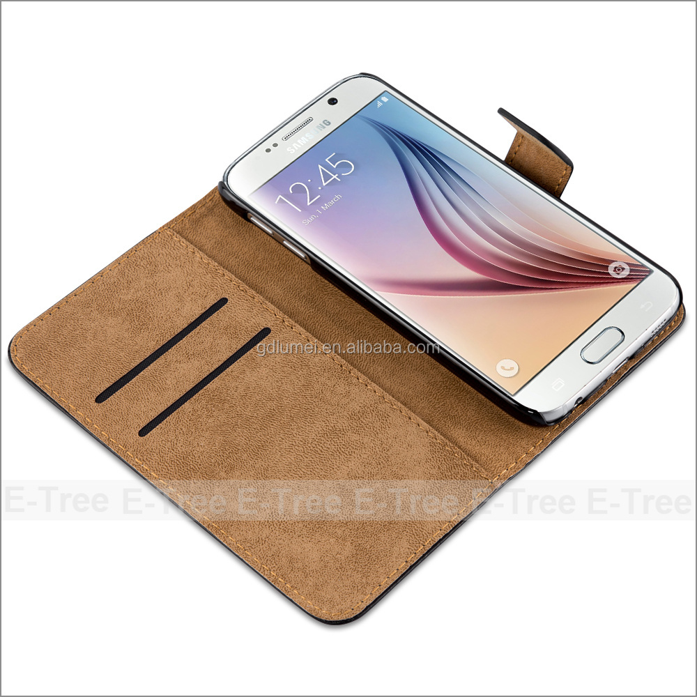 100 PU Leather Mobile Phone Case Back cover For Samsung Galaxy S3 S4 S5 S6 S7
