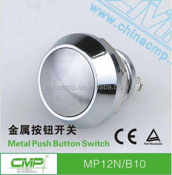 CMP waterproof switch 12mm metal stainless steel arcade button