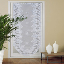 Polyester European Style White Lace Door Curtain , Door Curtain Panel 60x180CM