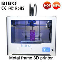 Direct Manufacturer! BIBO Dual Extruder 3D Printer Prints Flexible Filament , Best China Desktop 3D Printing Machine For Sale