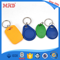 MDK193 Colorfull Ntag203 Rfid NFC Key Fob with Metal Ring