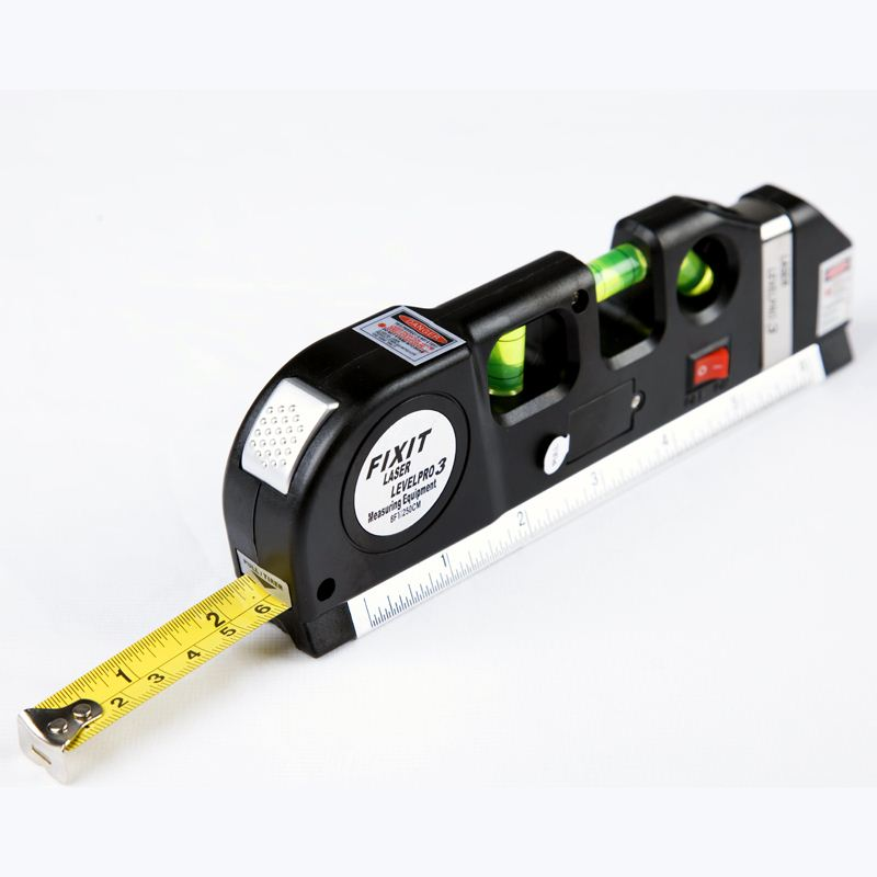 Multipurpose Laser Level Practical Horizon Vertical Measure Tape 8FT Horizon Diagnostic-tool Laser Dumpy Level l Measure Aligner