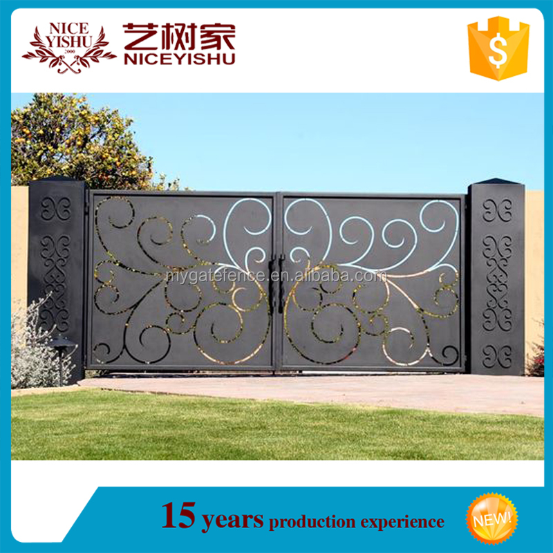 elegant security modern house main metal gates used for building