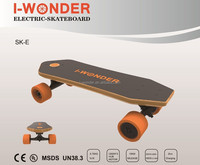 I-WONDER CE Newest Portable SK-E Electric Skateboard 24V/4.4Ah with Dual 1200W*2 DC Hub Motor