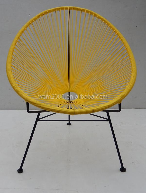 Acero pe redonda mimbre acapulco silla huevo sillas de for Silla huevo precio