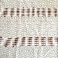 Factory price hot sale white crocheted cotton lace fabric
