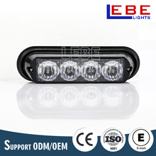 DC12-24V 4 LEDs grille strobe lighthead/ surface mount / police warning light for car LB1082-1B