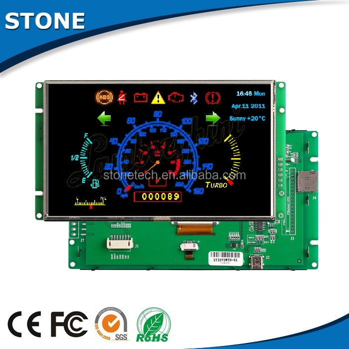 3.5 inch 320*240 monitor with touch screen for flip down car monitor