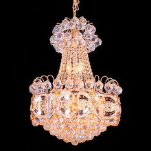 Architectural design low ceiling chandelier with luxury crystal ball light fixture78176