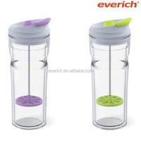 Everich Hot Selling Unique Double Wall AS Plastic French Tea press mug