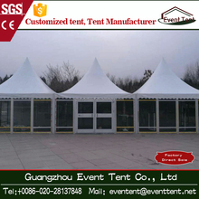 Awning room guangdong car show room party tent wind proof with glass wall