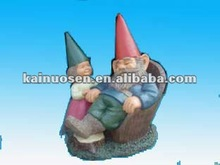 colorful terracotta cute garden lying gnome ornaments