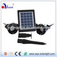 Solar panel energy power LED spot light for garden 2W