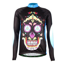 TVSSS 2016 Winter Men's Long Sleeve Skull shape Design Bike Jersey Personal Style Cycling Clothing Thermal Fleece <strong>Sportswear</strong>
