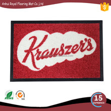 Custom design anti slip logo mat for motorcycle/Logo Mat/Entrance Door Mat