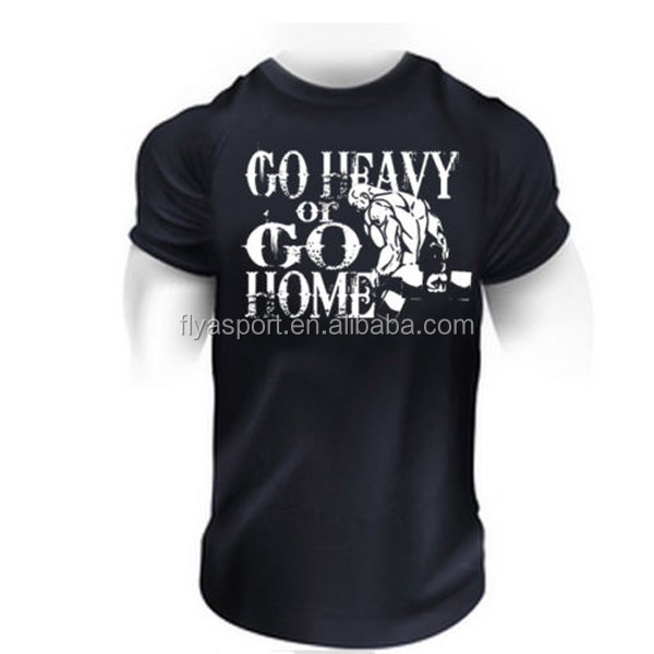 Wholesale custom printed Men's short-sleeve t-shirts for gym