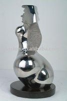 Wind Indoor metal Sculpture for hotel decoration