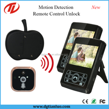 2.4GHz Digital Wireless Door Peephole Camera With Motion Sensor Detection
