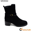 MK013-2 black cow skin suede fashion women half boots ladie handmade top quality boots design boots