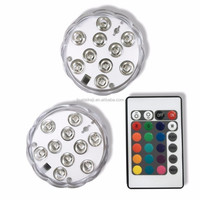 Submersible Underwater LED Lights Battery Operated RGB Multi Color Remote Controlled Light For Aquarium Pond Outdoor Lighting