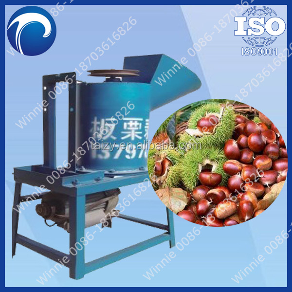 high efficiency chestnut shell removing machine/chestnut sheller machine