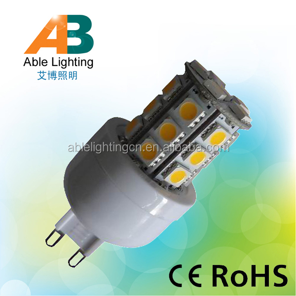CRI 80 3.8w 350lm 24smd 5050 dimmable g9 led <strong>bulb</strong>