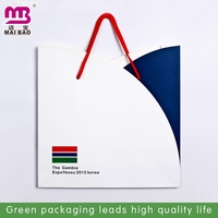 on bargain cheapest fashion glossy black paper shopping bag