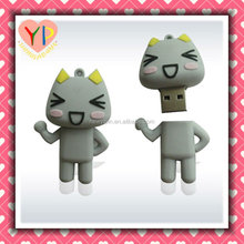 2015 custom 1-64GB cartoon Soft kitty usb flash drive / disk