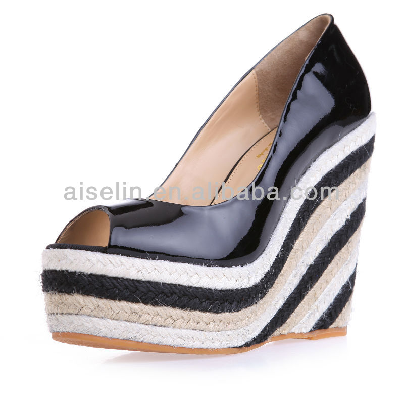 fashion lady beach sandals wholesale zebra-stripe sandals