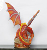 oem figurines custom resin red dragon figure in realistic with injection molding technical