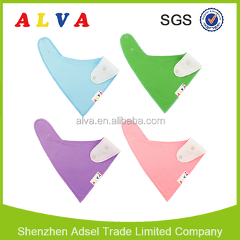 Alva Hot Sale Solid Color High Quality Cotton Wholesale Washable Bandana Bibs