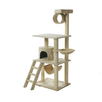 Pet Condo House Easy Assemble Durable Cat Tree House Wooden,Large Cat Tree With Hammock