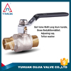 Double male thread for water gauge and nickel-plated surface combined with the high quality one-second-inch brass ball valve