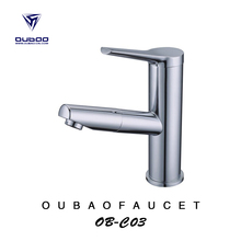 Polished Chrome Bathroom Faucet pull out basin mixer water tap OB-C03-02