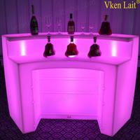 Restaurant kitchen plastic cafe bar counter design with lighting