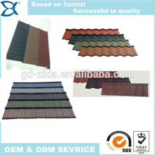 Colorful clear coated stone roofing building tile,metal roofing building tile