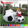 Classical black and white Mosaic style round shape gamer beanbag chair,soccer beangag