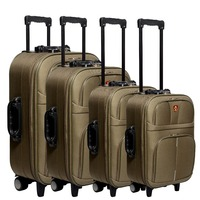 luggage factory 4 spinner wheels travel trolley suitcase sets