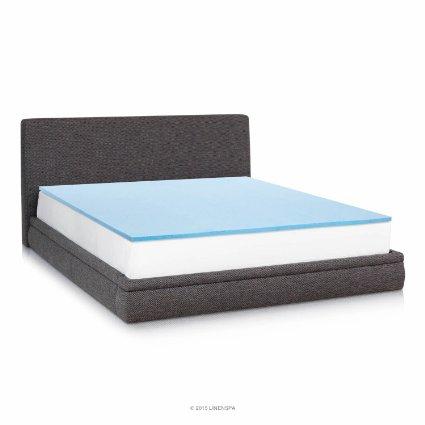 1 Inch Gel Infused Memory Foam Mattress Pad Queen Size